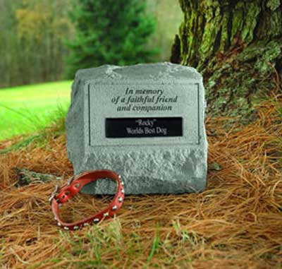 In memory of a faithful friend... Personalized Headstone with Urn LARGE