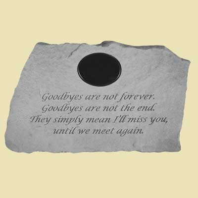Goodbyes are not forever... Personalized Garden Stone