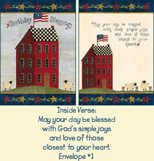 Psalms Birthday Card - Saltbox LARGE