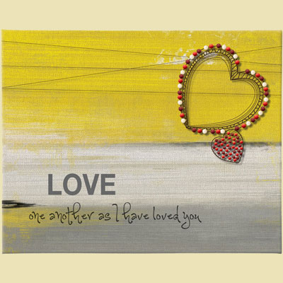 """Love One Another"" Canvas Wall Art"