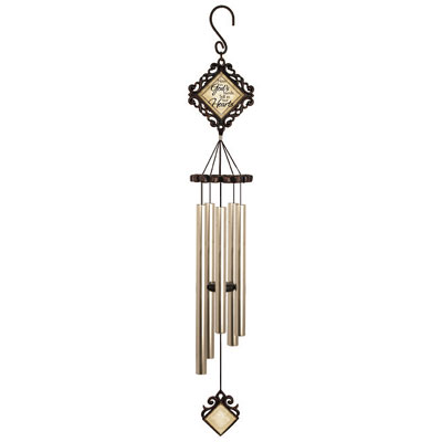 "35"" Signature Series Vintage Wind Chime - In God's Hands"