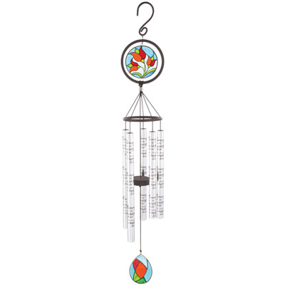 "35"" In Memory… Stained Glass Sonnet Windchime LARGE"