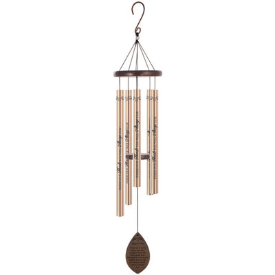 "38"" Wooden Sonnet Wind Chime - Angel's Arms"