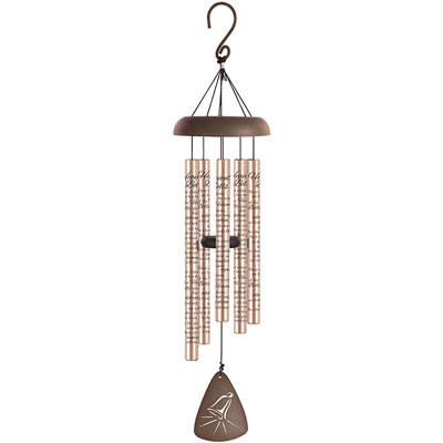 "30"" Rose Gold Signature Series Wind Chime - Heavenly Bells LARGE"