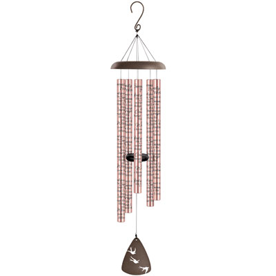 "44"" Signature Series Sonnet Wind Chime - Rose Gold - Serenity Prayer_LARGE"