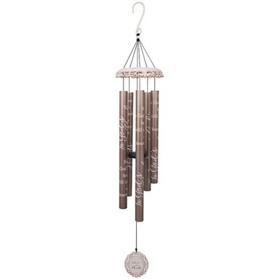 "40"" White Vintage Wind Chime - In Our Hearts LARGE"