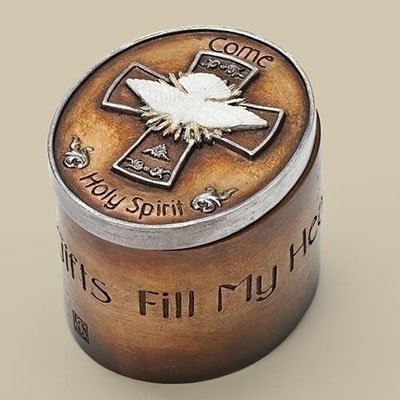 Guilded Dove Confirmation Keepsake Box