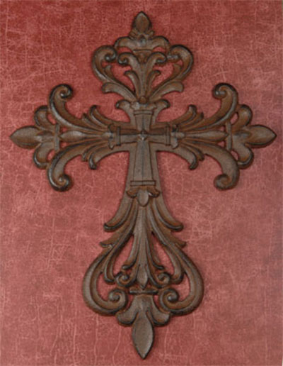 "Cast Iron 14"" Wall Cross"