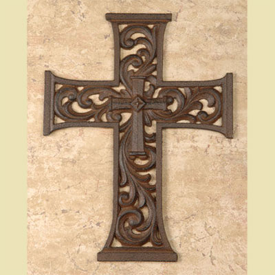 Cast Iron Cross - 10""