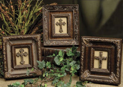 Small Framed Crosses - Set of 3