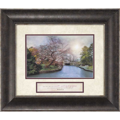 You Will Be Like a Well Watered Garden… Framed Christian Wall Art - Is 58:11 LARGE