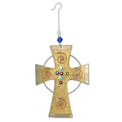 Jewel Cross Ornament LARGE