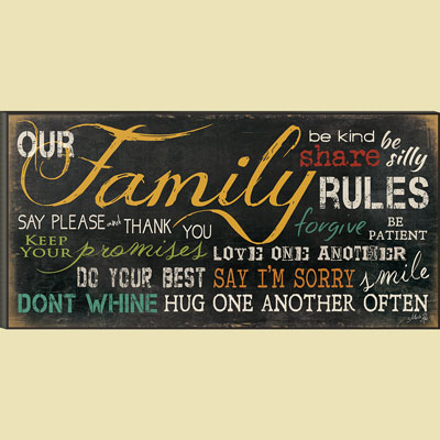 Christian Wall Art - Family Rules
