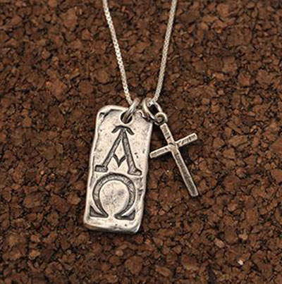 Alpha and Omega Sterling Silver Necklace