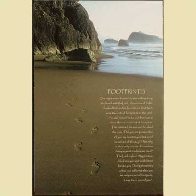 Footprints in the Sand Wall Hanging