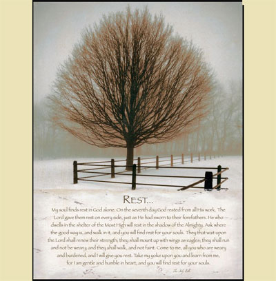 Solitude - Rest - Mounted Canvas Print LARGE