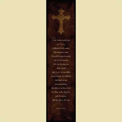 The Lord's Prayer - Christian Wall Art_LARGE