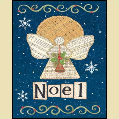 Noel Angel Mounted Print