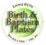 Personalized Baby Birth Plates at Christian Gifts Place