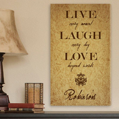 Live Every Moment Personalized Canvas