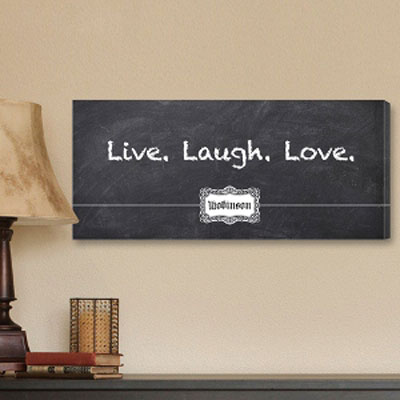 Live Laugh Love Personalized Canvas