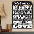 Antique Style Personalized Family Rules Personalized Canvas THUMBNAIL