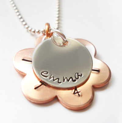 Copper Daisy Personalized Purity Necklace