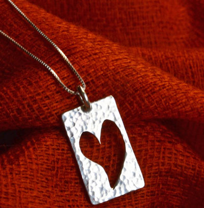 "My Whole Heart Necklace on 18"" Chain LARGE"