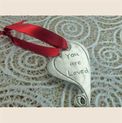 You are Loved Pewter Ornament LARGE