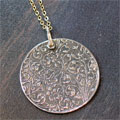 Sterling Silver Scripture Medallion Necklace - Psalm 86.11