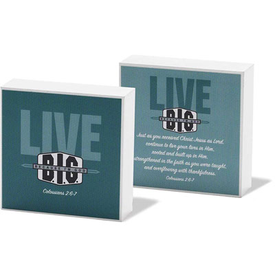 Desk Plaque/Shelf Sitter - Live Big