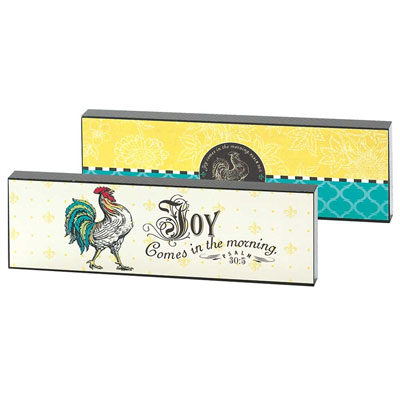 Desk Plaque/Shelf Sitter - Joy Comes in the Morning