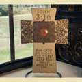 John 3:16 Wall Cross - For God so loved the world... THUMBNAIL