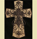 "Brown and Tan 24"" Wall Cross_THUMBNAIL"