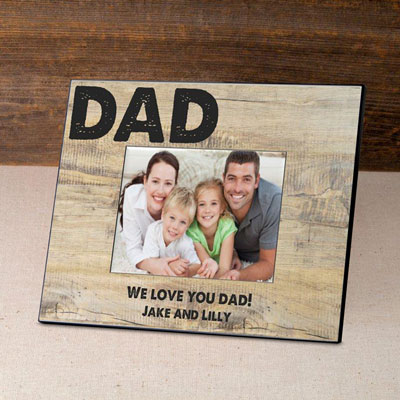 Personalized Father's Day Frame-Classic Dad LARGE