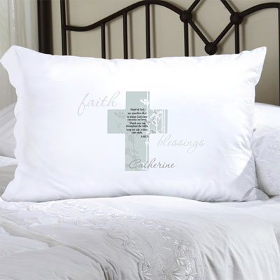 Personalized Pillow Case with Angel of God LARGE