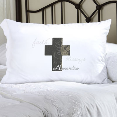 Personalized Pillow Case with a Paisley Faith