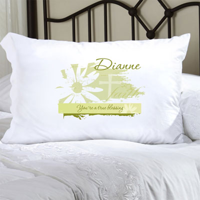 Personalized Pillow Case with Divine Daisy LARGE