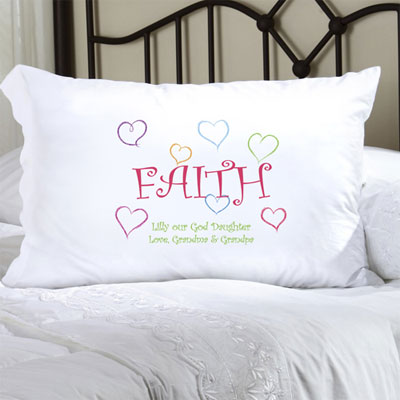 Personalized Pillow Case with Lighthearted Faith LARGE