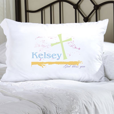 Personalized Pillow Case with Pastel Grace LARGE