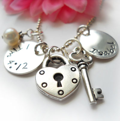 Personalized Purity Charm Necklace