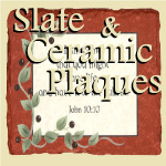 Slate & Ceramic Wall Plaques