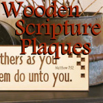 Wooden Scripture Wall Art