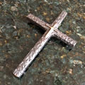 Simple Boy's Bronze Cross with Black Patina
