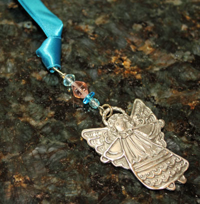 Pewter Angel Bookmark by Cynthia Webb