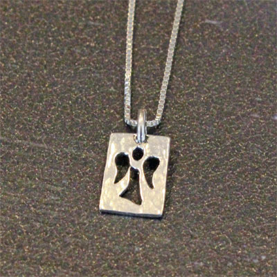 He will Command His Angels...Sterling Necklace