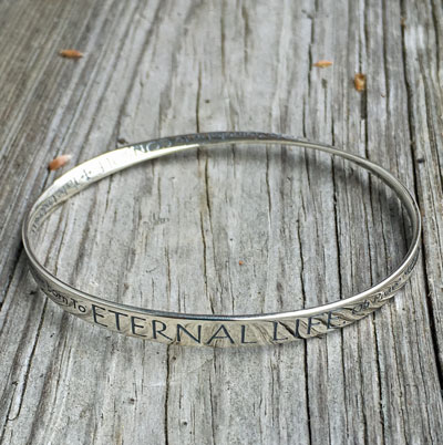 St Francis' Prayer Eternal Life Mobius Bracelet LARGE