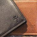 Leather Hipster Men's Wallet - Saddle Brown Leather SWATCH
