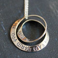 Irish Blessing - Double Mobius Necklace THUMBNAIL