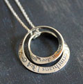 Love is Patient - 1 Corinthians 13 Double Mobius Necklace THUMBNAIL